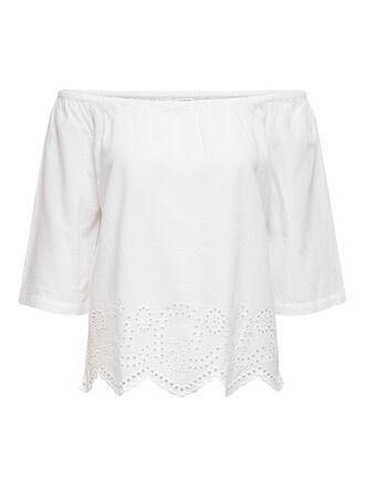 BRODERIE ANGLAISE OFF-SHOULDER TOP