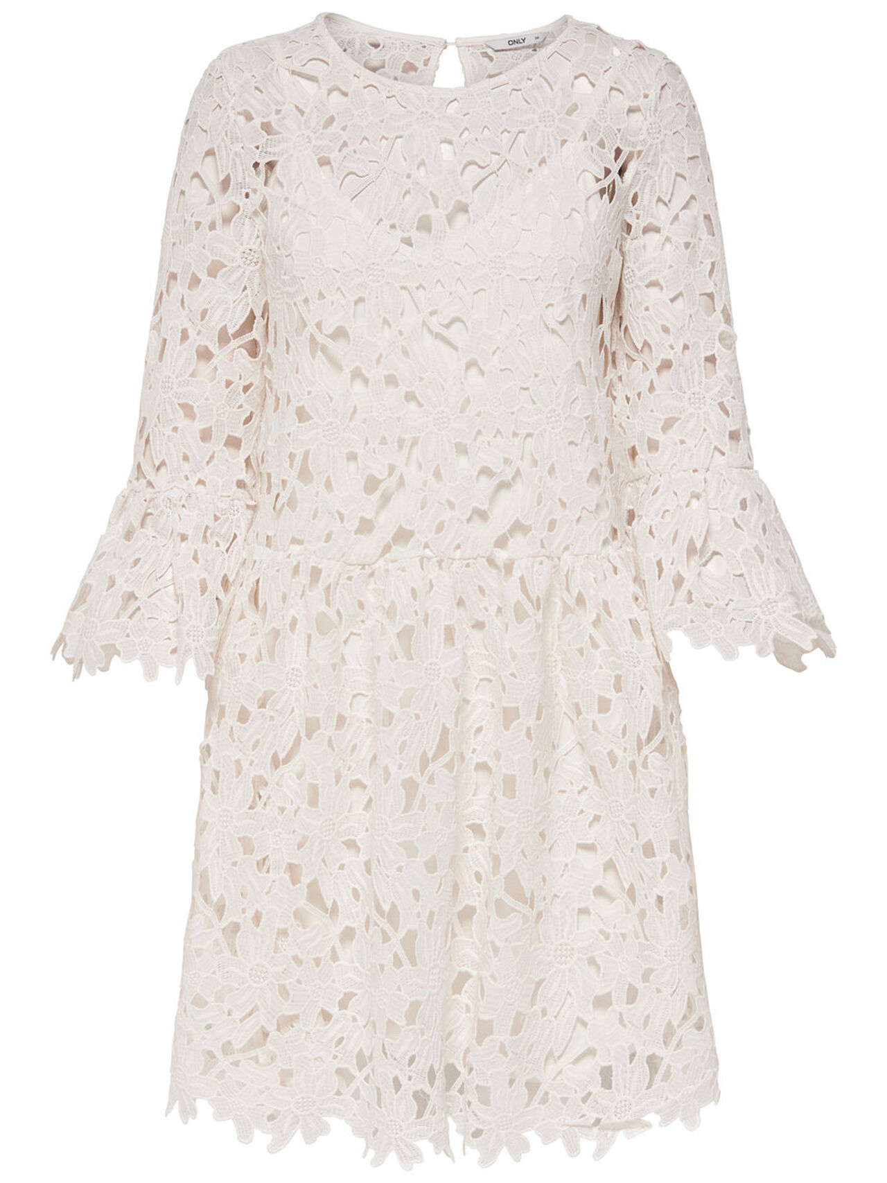 ONLY Lace Long Sleeved Dress Women White