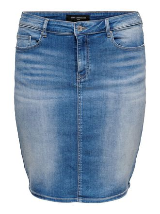 CURVY HIGH WAIST DENIM SKIRT