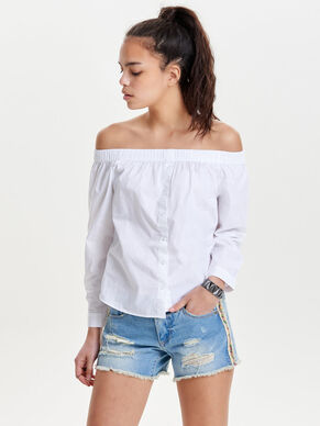 OFF SHOULDER LONG SLEEVED TOP