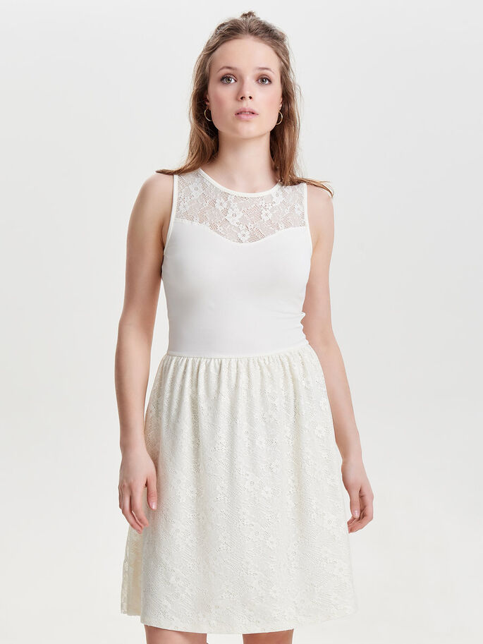 ÆRMELØS SLEEVELESS DRESS, Cloud Dancer, large