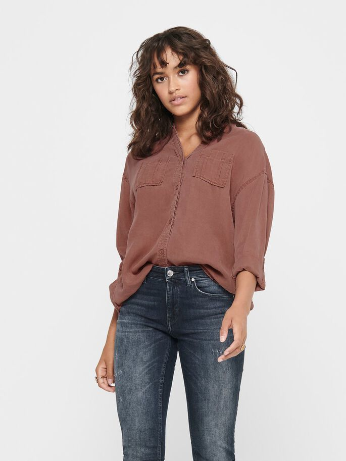 LOOSE FITTED SHIRT, Mineral Red, large