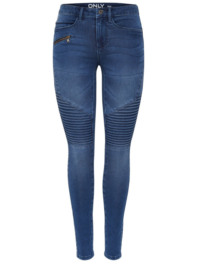 ROYAL REG FRISSE BIK SKINNY JEANS, Medium Blue Denim, large