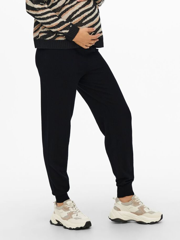 SLIM FITTED TROUSERS, Black, large