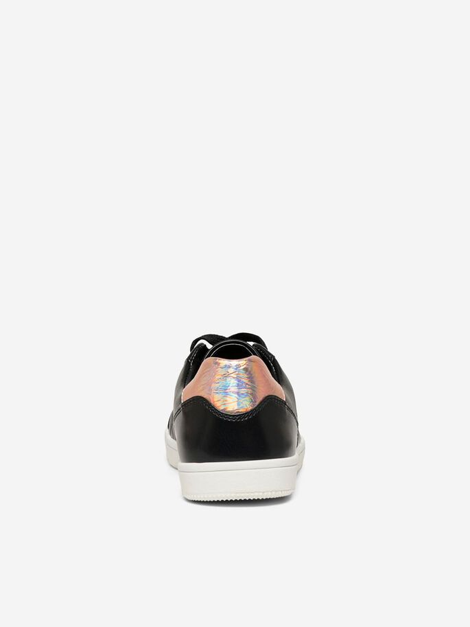 QUILTED SNEAKERS, Black, large