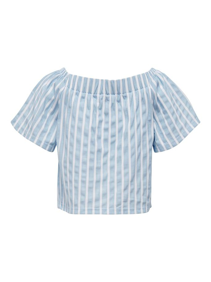 STRIBET TOP, Cashmere Blue, large