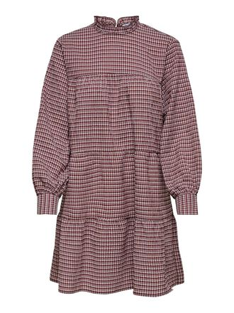CHECKED FRILL DRESS