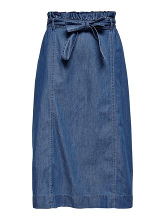 DENIM MIDDELLANGE ROK