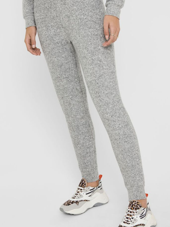 LOUNGE SWEATPANTS, Light Grey Melange, large