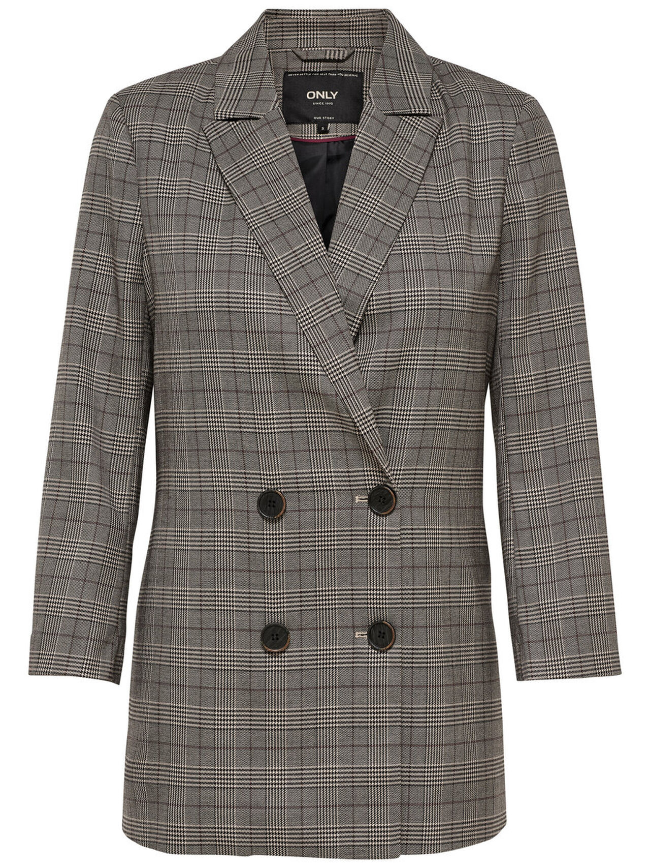 ONLY Checked Blazer Women Grey
