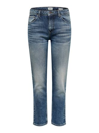 ONLRAY MID CROPPED STRAIGHT FIT JEANS