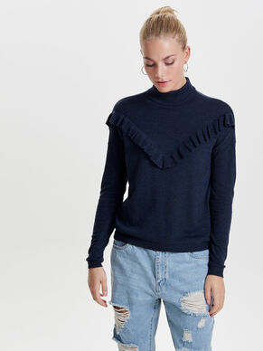 FRILL KNITTED PULLOVER