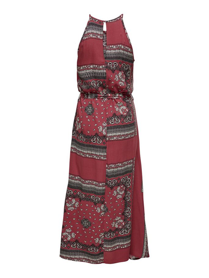 PRINTED MAXI DRESS, Apple Butter, large