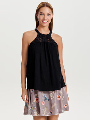 HALTERNECK SLEEVELESS TOP