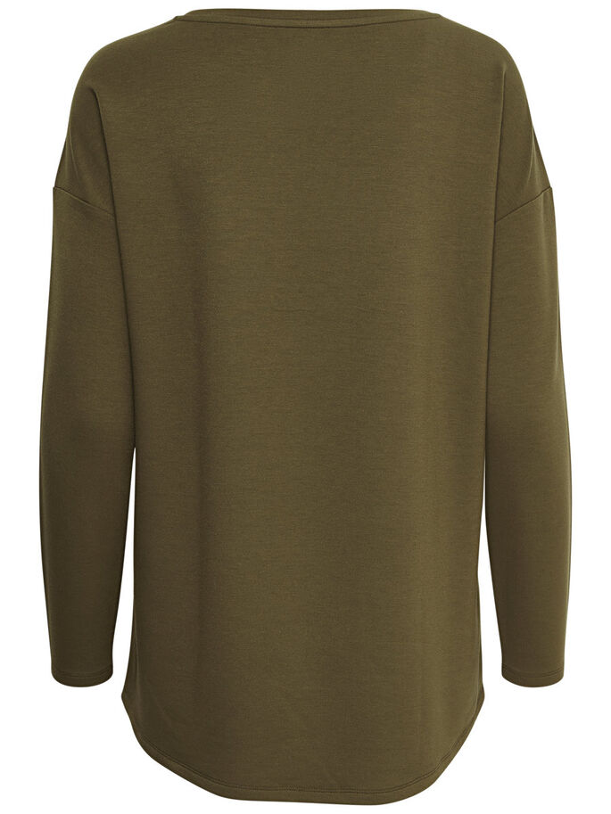 AVEC FINITIONS SWEAT-SHIRT, Military Olive, large