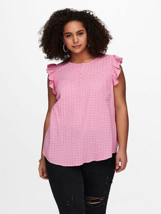 CURVY FRILL SLEEVELESS TOP