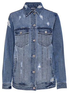 sequins denim jacket - Chaquetas Tejanas