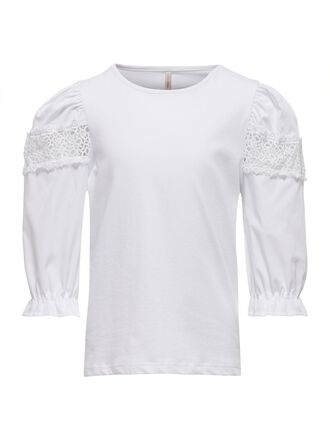 LACE DETAIL 3/4 SLEEVED TOP