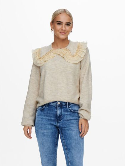 COLLAR DETAILED PULLOVER