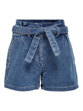 TIE BELT DENIM SHORTS