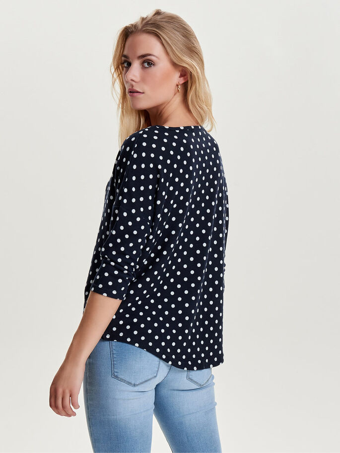 LOOSE 3/4 SLEEVED TOP, Night Sky, large