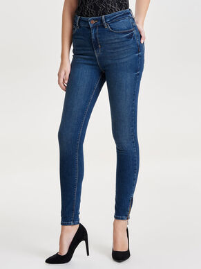 STUDIO1 HW ZIP ANKLE SKINNY FIT JEANS