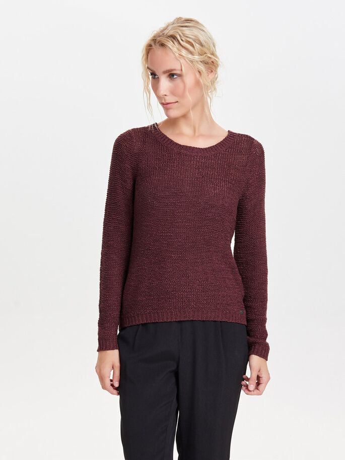 SOLID KNITTED PULLOVER, Windsor Wine, large c8a949c8e3