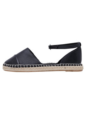 LEATHER LOOK ESPADRILLES