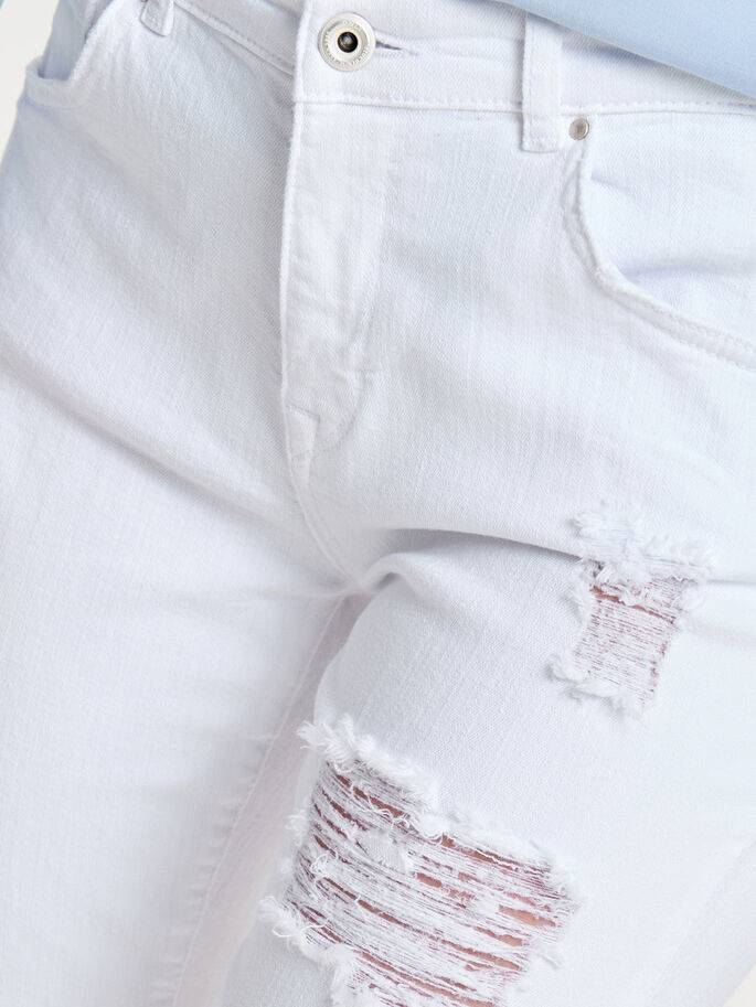 RELAX WHITE SKINNY FIT JEANS, White, large