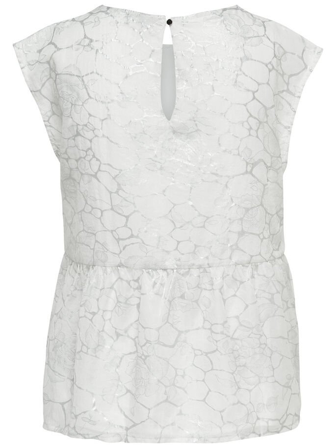 DETAILED SHORT SLEEVED TOP, Cloud Dancer, large