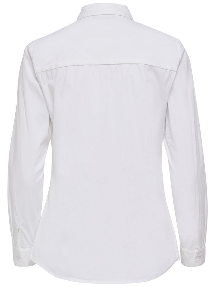 EINFARBIGES LANGARMHEMD, Bright White, large