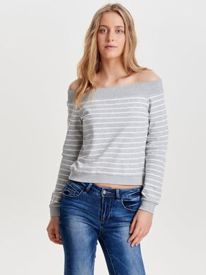 OFF-SHOULDER SWEATSHIRT