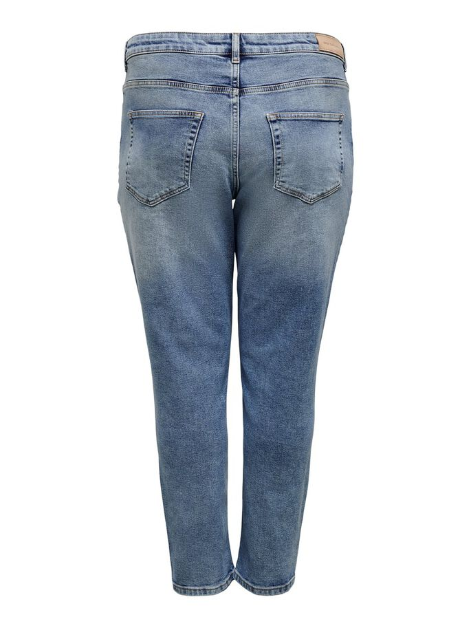 CURVY CARENEDA LIFE HW STRAIGHT FIT JEANS, Light Blue Denim, large