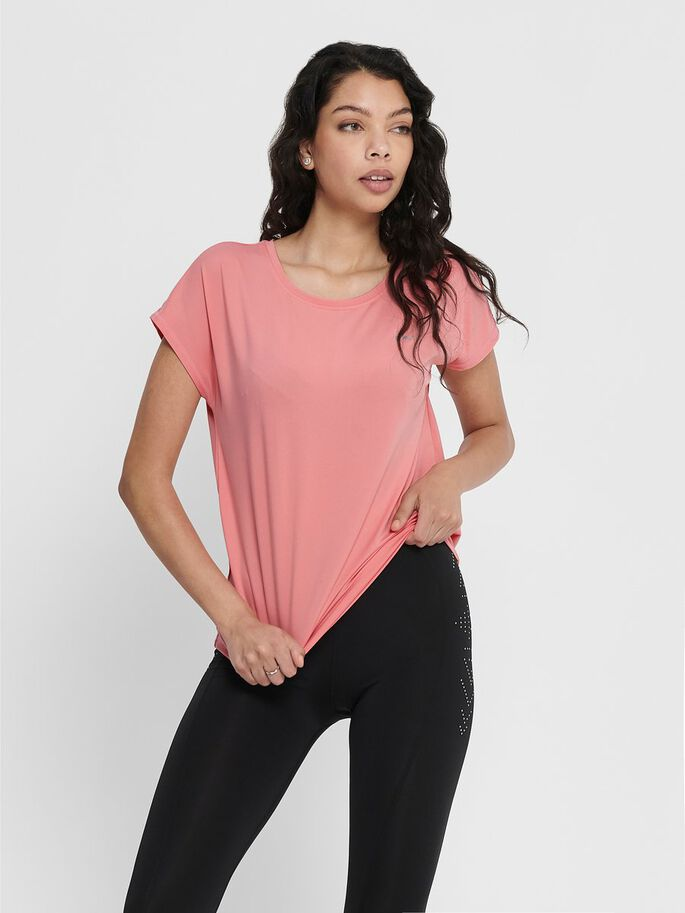 LOOSE FIT SPORT SHIRT, Strawberry Pink, large