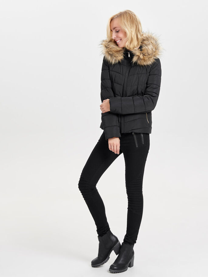 KURZE STEPPJACKE, Black, large