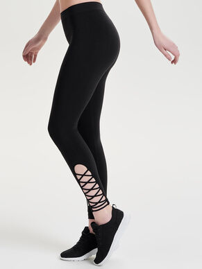SEAMLESS LACE-UP TRAINING TIGHTS