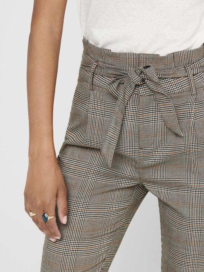 POPTRASH CHECKED TROUSERS, Marmalade, large