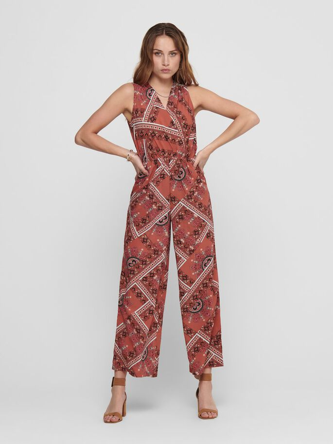 PRINTED JUMPSUIT, Hot Sauce, large