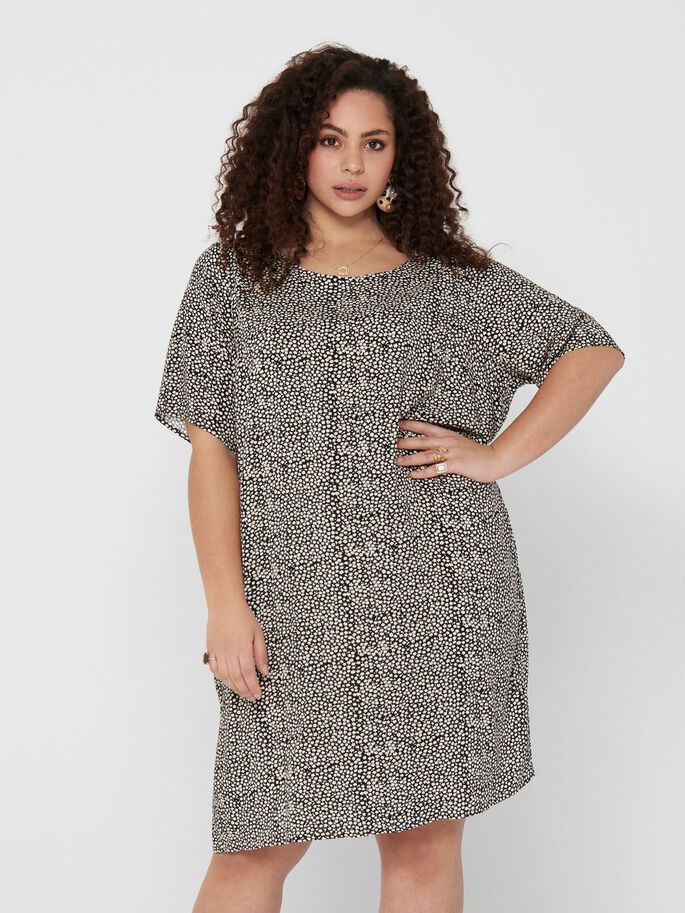 CURVY TUNIKA KLEID, Black, large