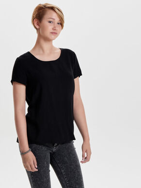 SOLID SHORT SLEEVED TOP