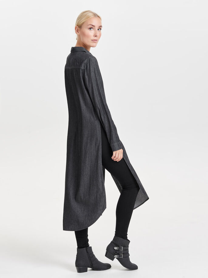 LONG SHIRT, Black, large