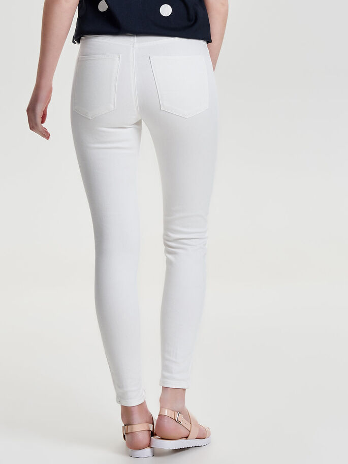 STUDIO HIGH WAIST ANKLE JEANS SKINNY FIT, Bright White, large