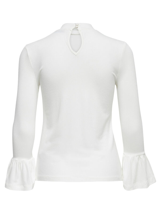 PEPLUM LONG SLEEVED TOP, Cloud Dancer, large