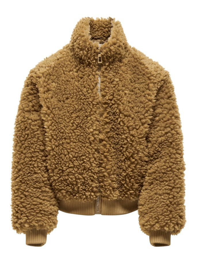 SHERPA BOMBER JACKET, Toasted Coconut, large