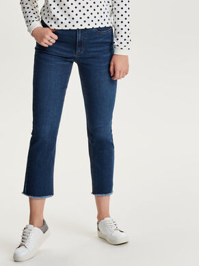 SCARLETT HW CROP STRAIGHT FIT JEANS