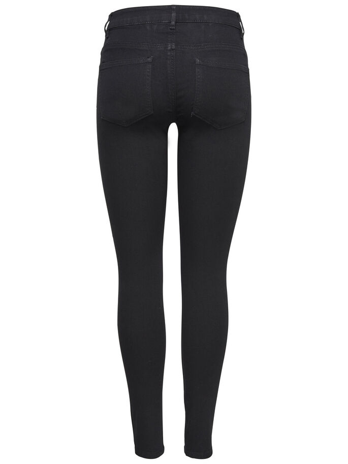JDY LOW EAGLE ZWARTE SKINNY JEANS, Black, large