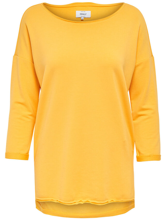 COULEUR UNIE SWEAT-SHIRT, Yolk Yellow, large