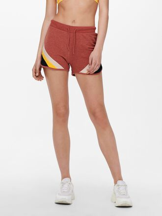 CONTRAST COLORED SWEAT SHORTS