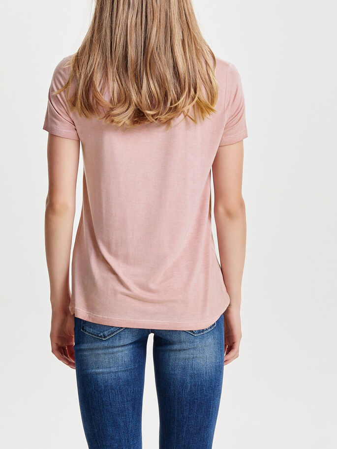 DETAILED SHORT SLEEVED TOP, Ash Rose, large