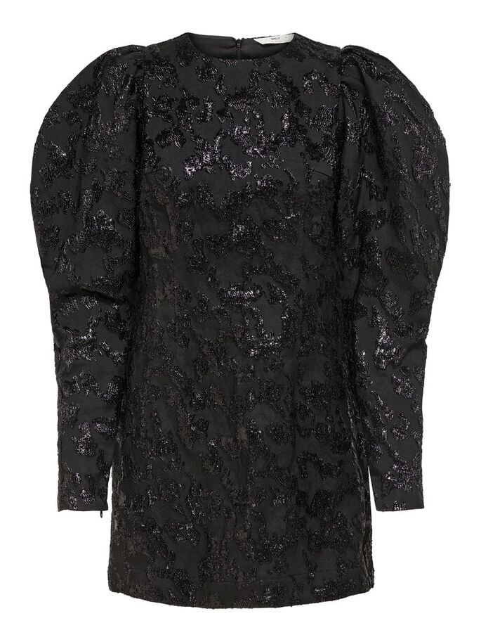 SHIMMER DRESS, Black, large
